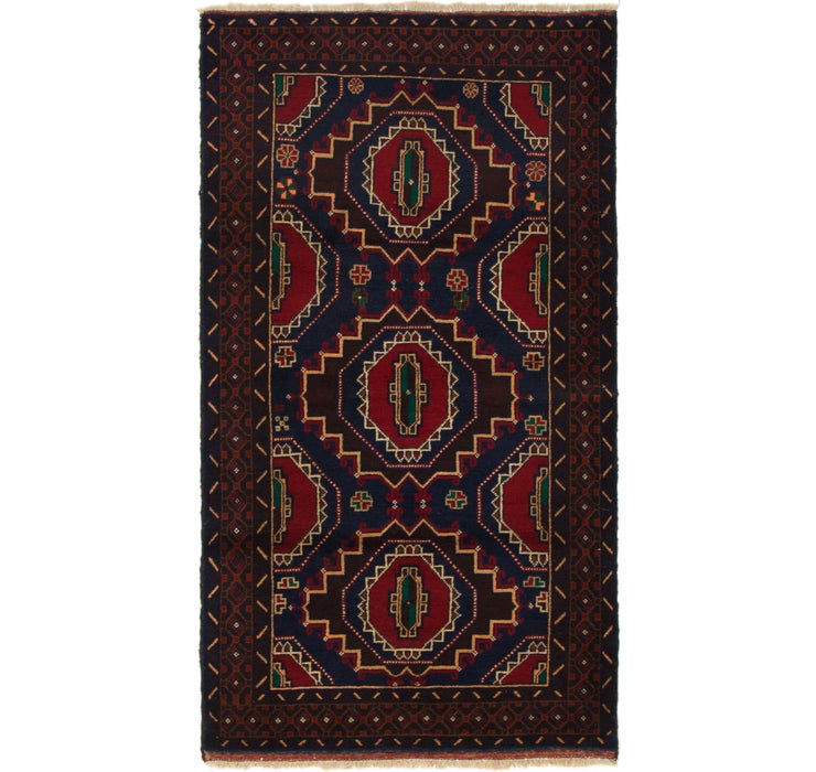 110cm x 208cm Balouch Persian Rug