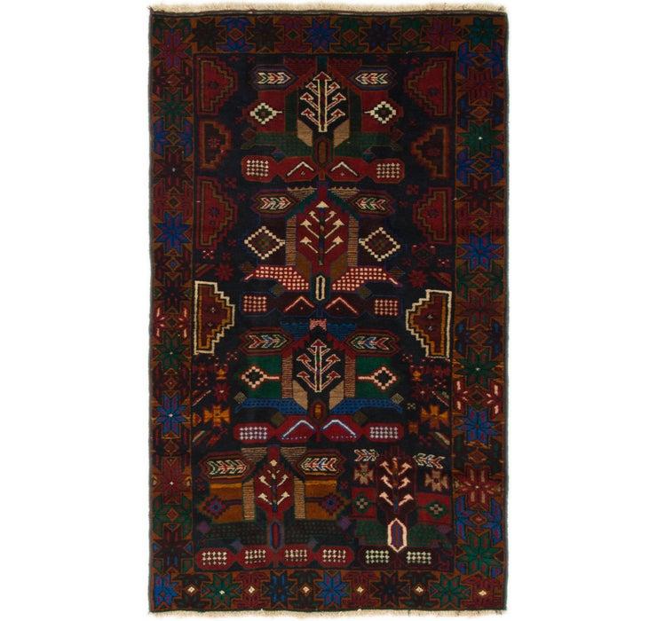3' 8 x 6' 4 Balouch Persian Rug