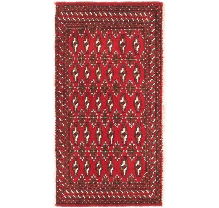 1' 9 x 3' 5 Torkaman Persian Rug