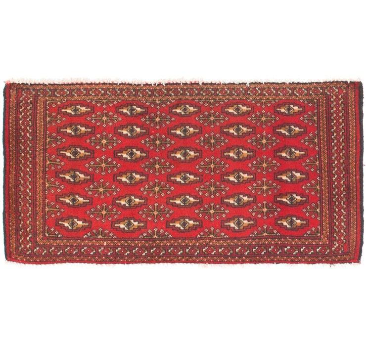 1' 7 x 3' 4 Torkaman Persian Rug