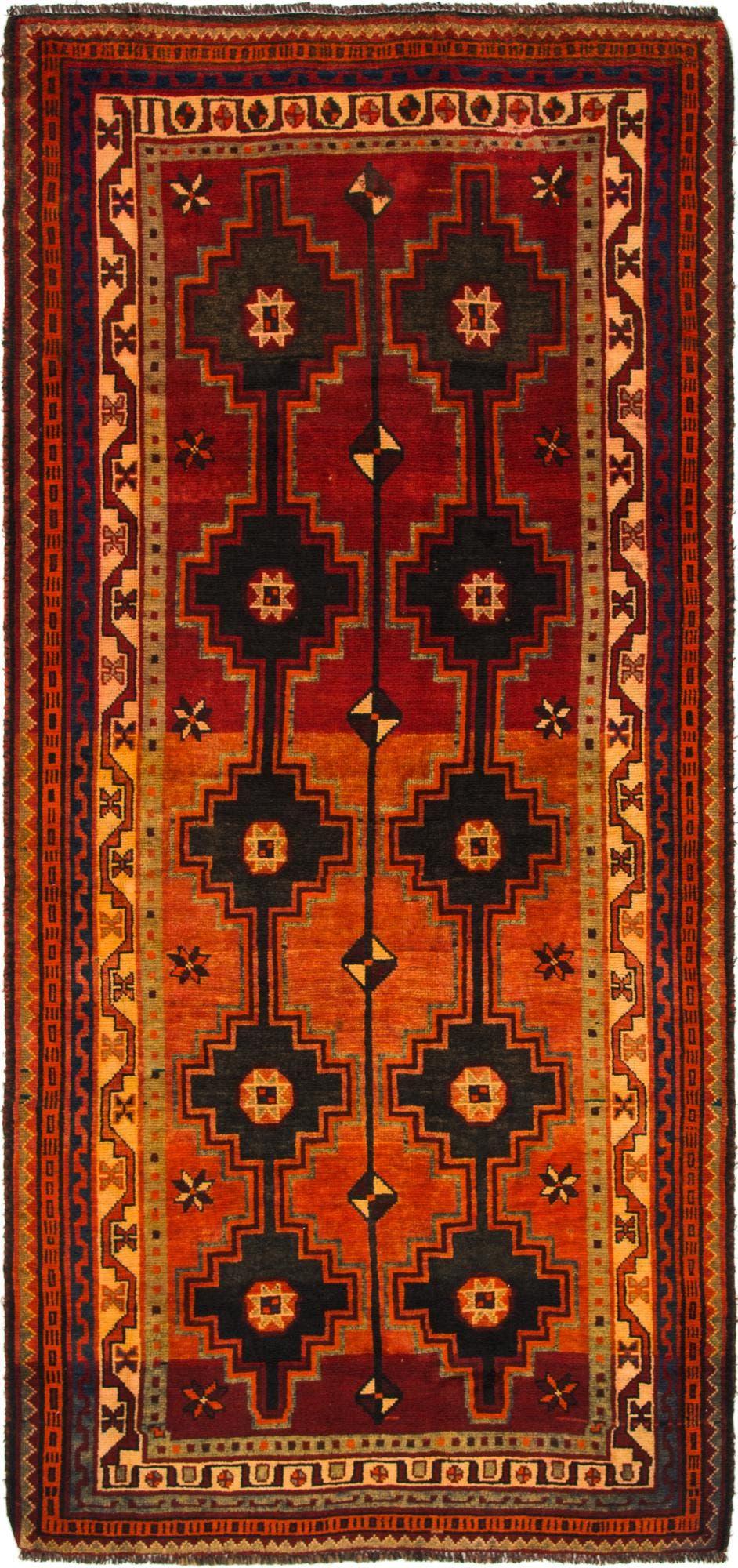 4' 5 x 9' 8 Shiraz-Lori Persian Runner Rug main image