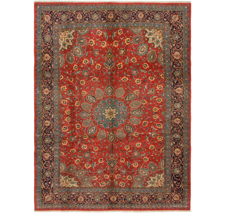 9' 3 x 12' 4 Sarough Persian Rug