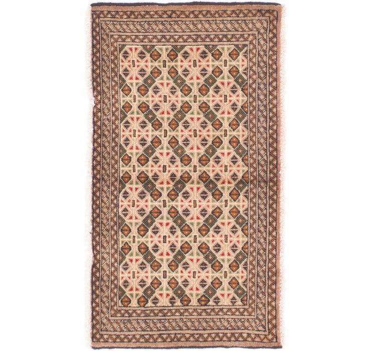 1' 10 x 3' 3 Bokhara Oriental Rug