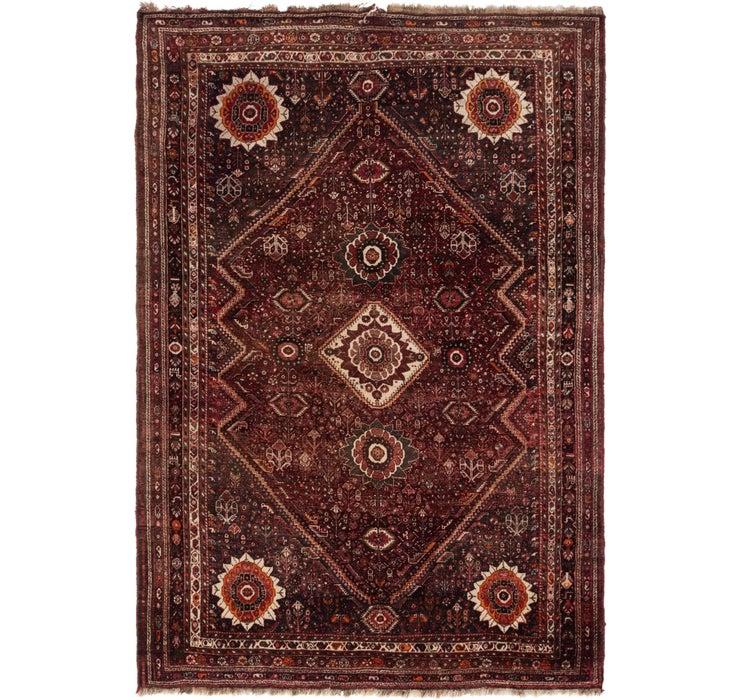 7' 2 x 10' 6 Ghashghaei Persian Rug