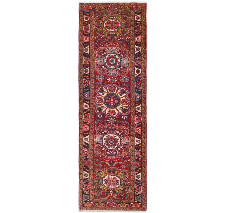 110cm x 375cm Heriz Persian Runner Rug
