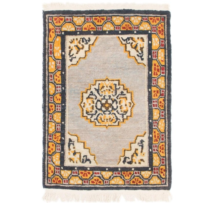 2' x 3' Antique Finish Rug
