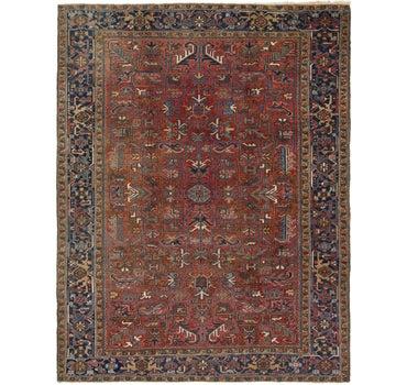 8' 9 x 11' 2 Heriz Persian Rug main image