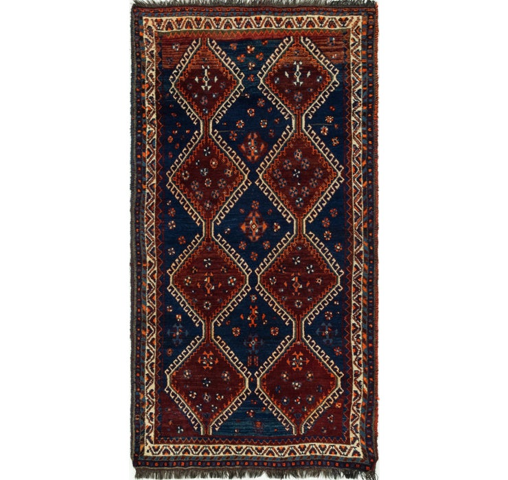 4' 2 x 8' Ghashghaei Persian Rug