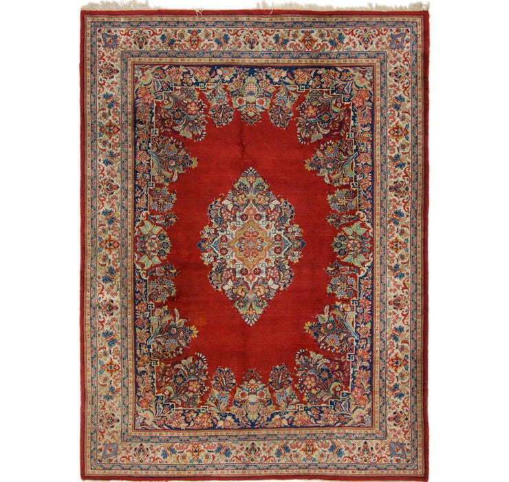 8' x 10' 7 Sarough Persian Rug