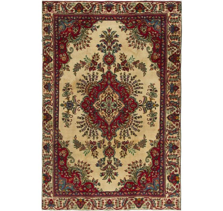 6' 2 x 9' 6 Tabriz Persian Rug