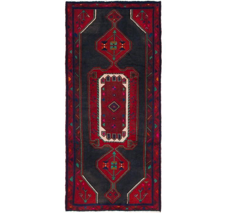 4' 3 x 9' 2 Zanjan Persian Runner Rug