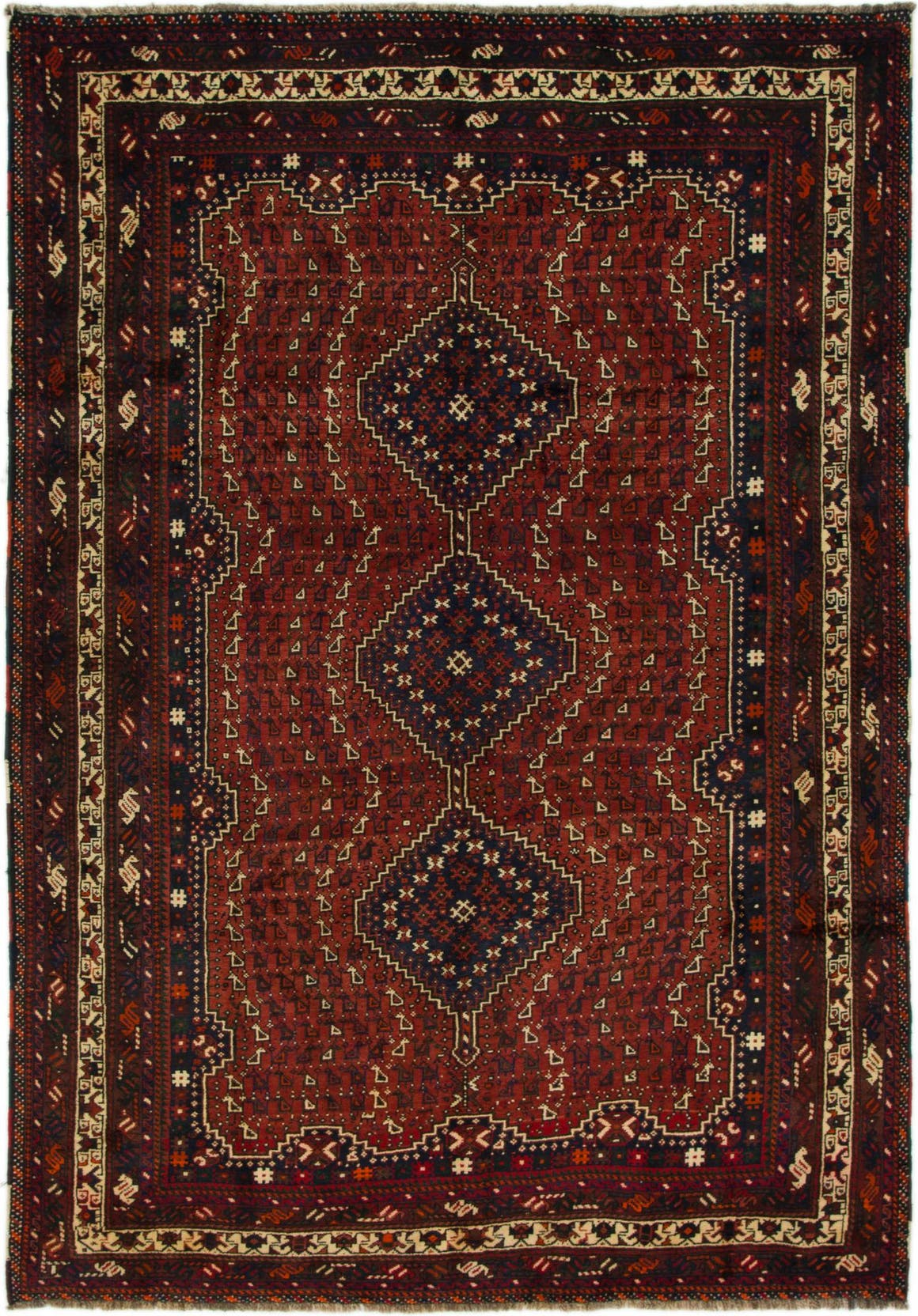 6' 7 x 9' 5 Shiraz Persian Rug main image
