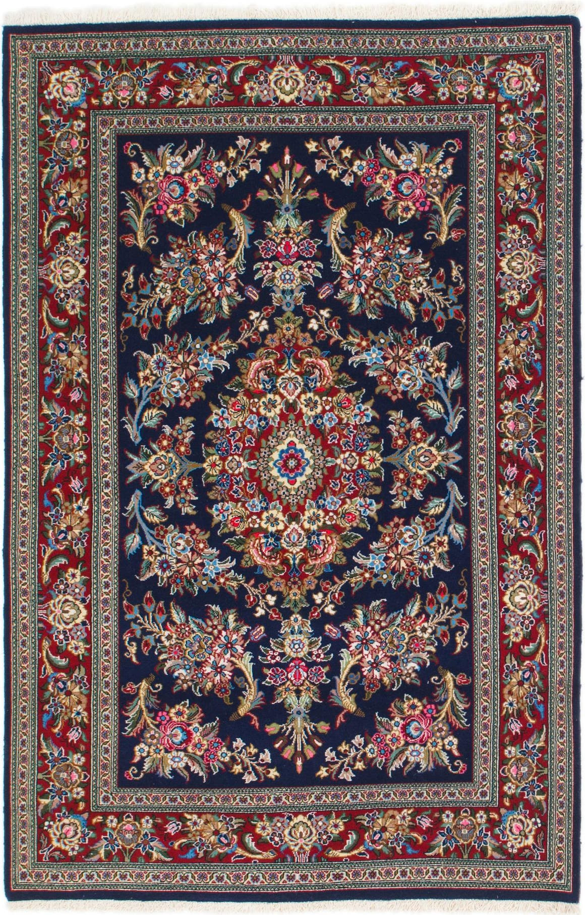 4' 4 x 5' 8 Qom Persian Rug main image