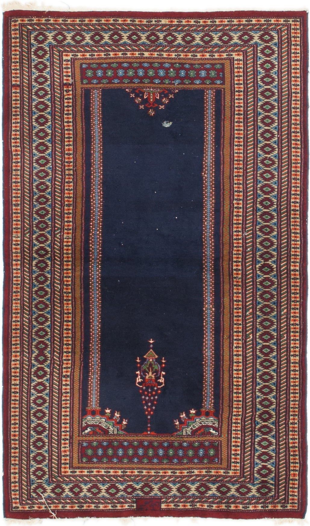Picture of: Navy Blue 3 X 5 Lahour Oriental Rug Rugs Com
