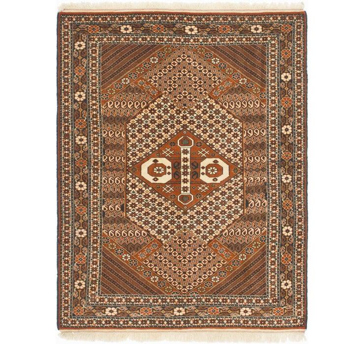 4' 3 x 5' 6 Yalameh Persian Rug