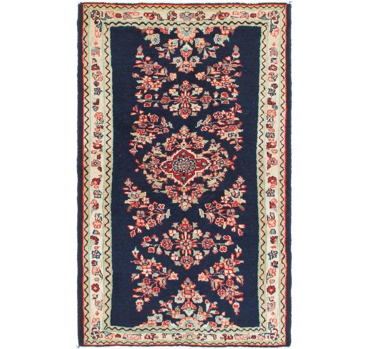 3' 5 x 5' 4 Mashad Persian Rug