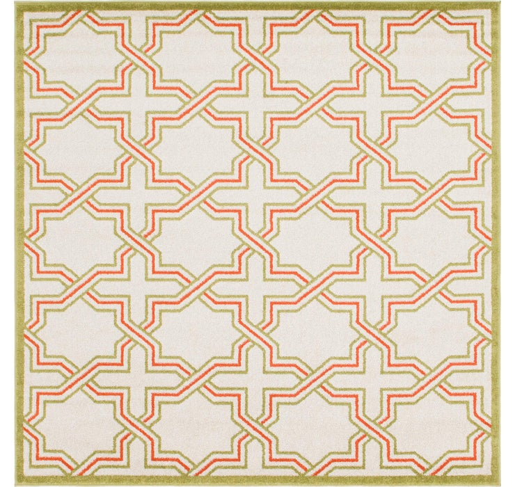 7' x 7' Trellis Square Rug