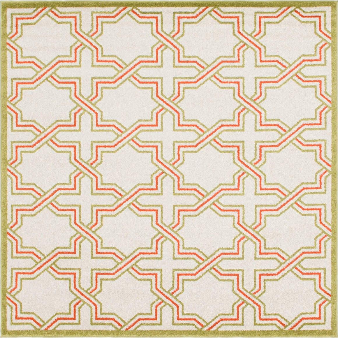 7' x 7' Trellis Square Rug main image