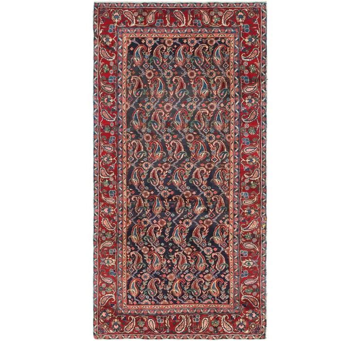 4' 8 x 9' 5 Mashad Persian Runner Rug