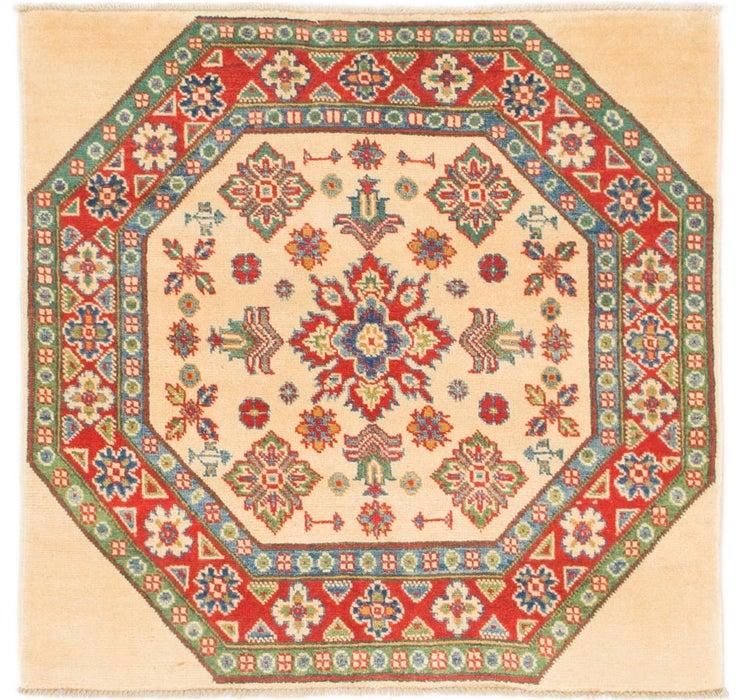 3' 2 x 3' 3 Kazak Square Rug