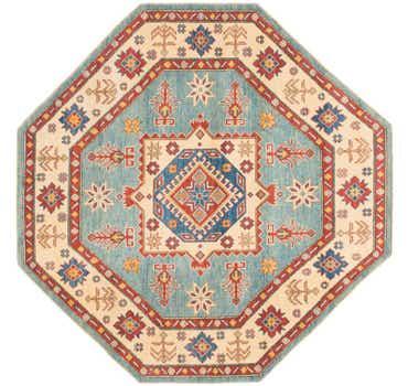 Image of 6' 4 x 6' 6 Kazak Octagon Rug