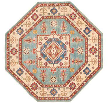 Image of 6' 4 x 6' 5 Kazak Octagon Rug