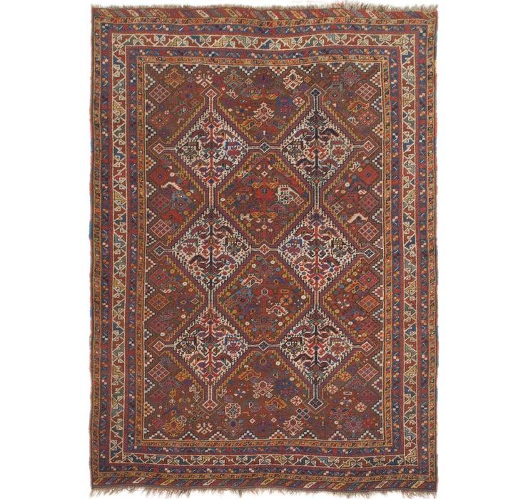 4' 6 x 6' 2 Shiraz Persian Rug