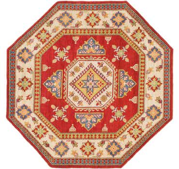 Image of 7' x 7' 2 Kazak Octagon Rug