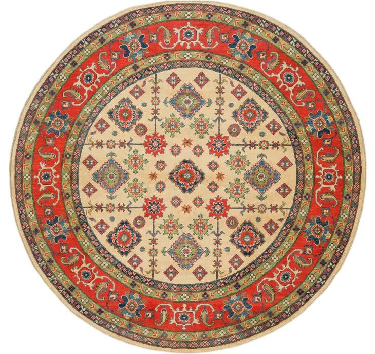 8' x 8' 2 Kazak Round Rug