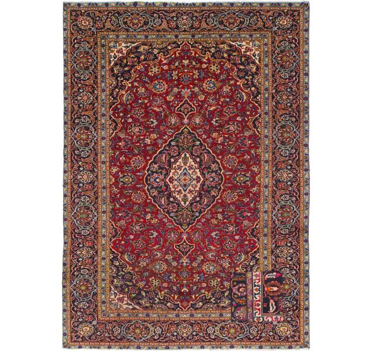 7' 6 x 10' 9 Kashan Persian Rug
