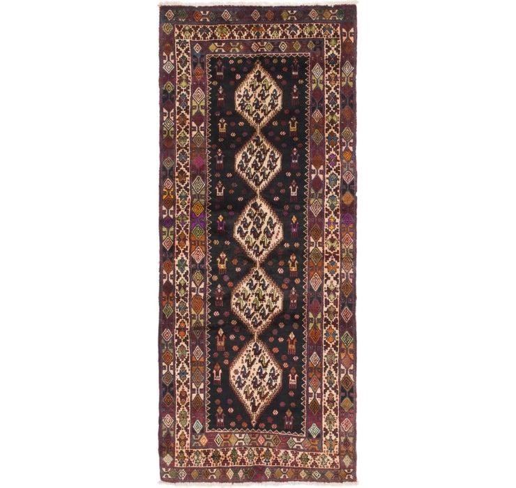 3' 7 x 9' Senneh Persian Runner Rug