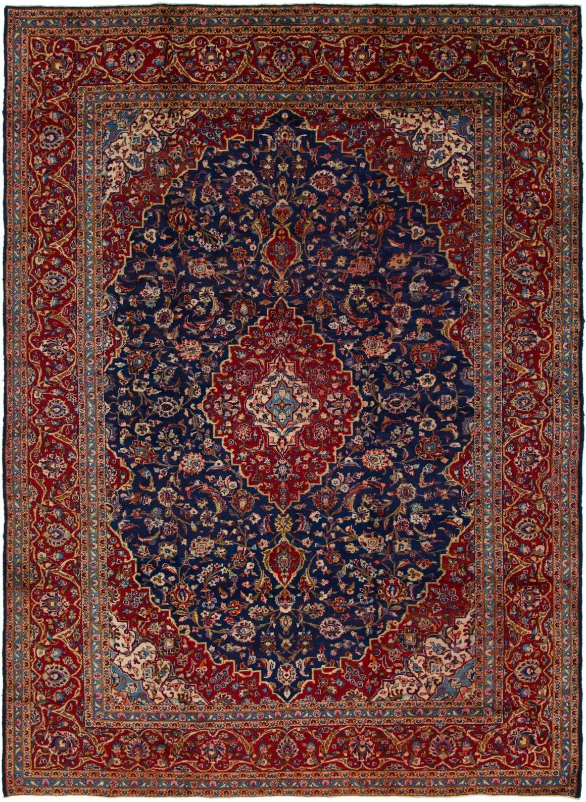 9' 7 x 13' 2 Kashan Persian Rug main image