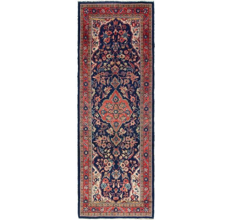 110cm x 318cm Mahal Persian Runner Rug