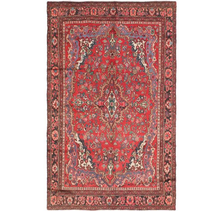 6' 2 x 10' Hamedan Persian Rug