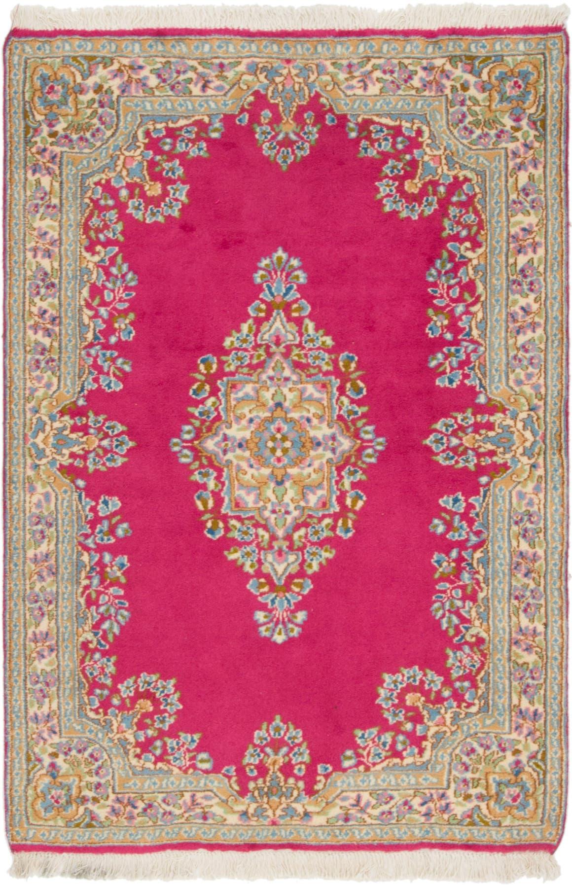 Pink 4 X 6 Kerman Persian Rug Irugs Uk