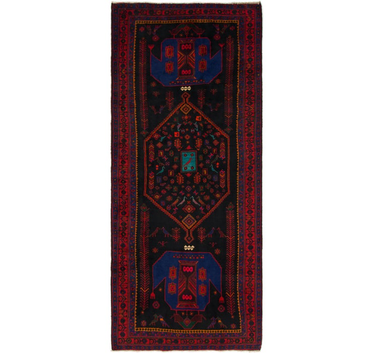 145cm x 345cm Sirjan Persian Runner Rug