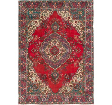 9' 6 x 13' 2 Tabriz Persian Rug main image