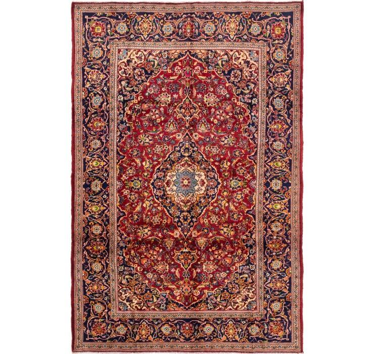 6' 6 x 9' 9 Kashan Persian Rug