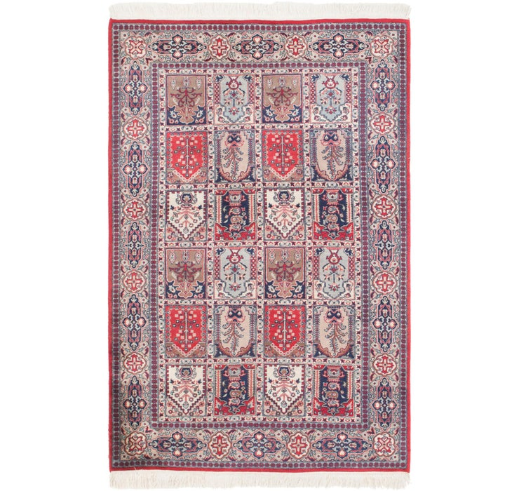 4' x 6' 4 Sarough Oriental Rug