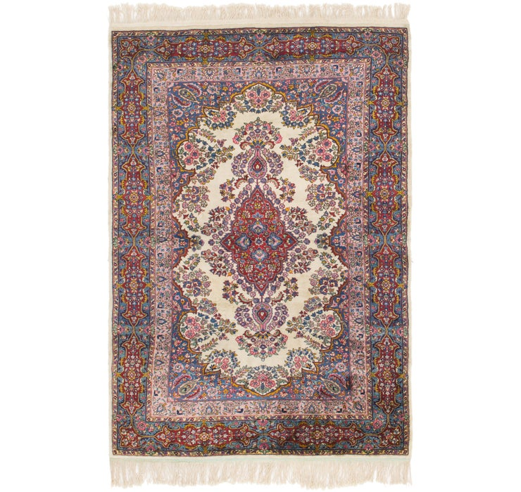 4' x 6' 3 Kerman Persian Rug