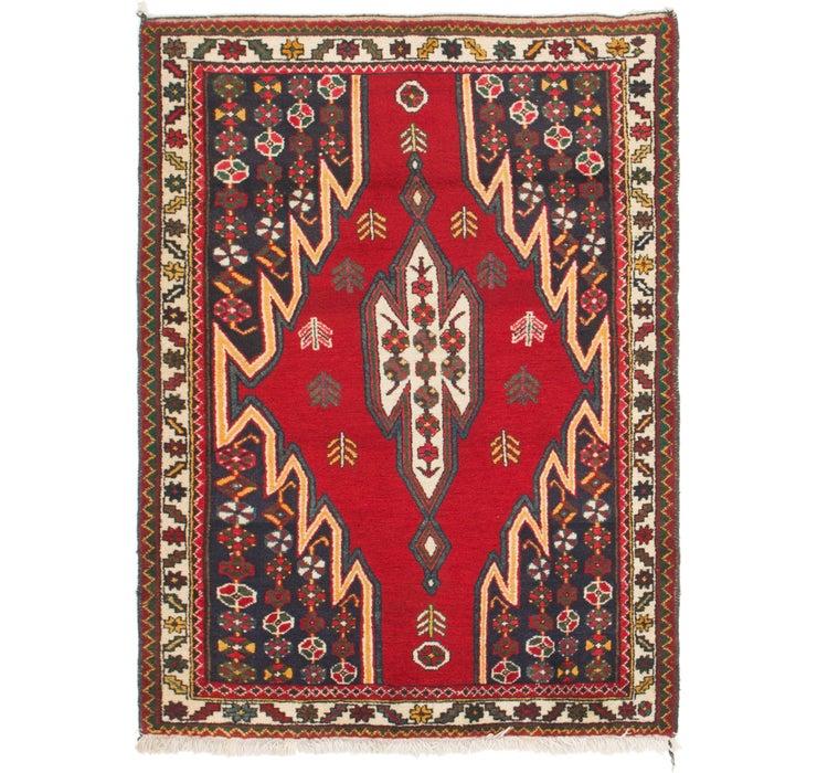107cm x 152cm Mazlaghan Persian Rug