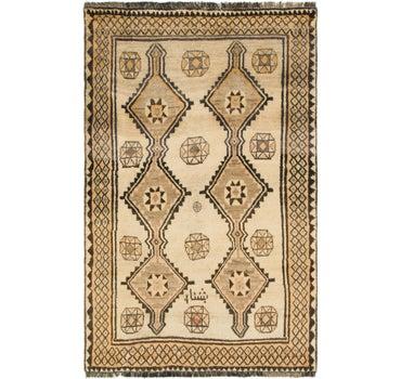 4' 1 x 6' 8 Shiraz-Gabbeh Persian Rug main image