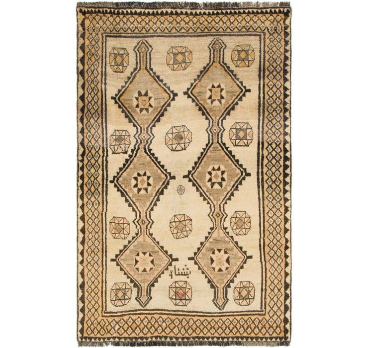 125cm x 203cm Shiraz-Gabbeh Persian Rug
