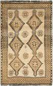 4' 1 x 6' 8 Shiraz-Gabbeh Persian Rug thumbnail