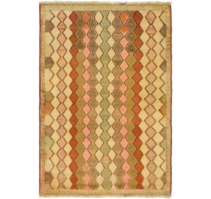 3' 6 x 5' 3 Shiraz-Gabbeh Persian Rug