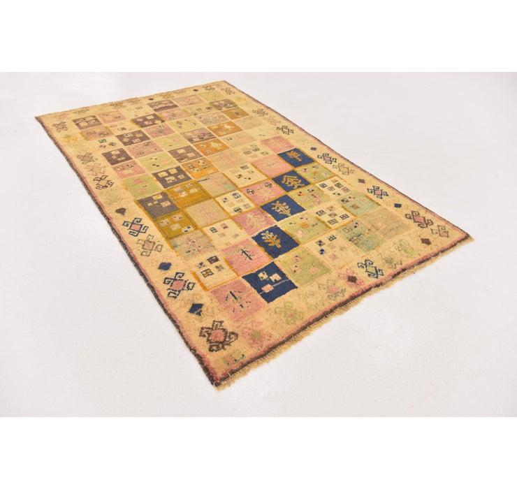 Image of 3' 9 x 6' Shiraz-Gabbeh Persian Rug
