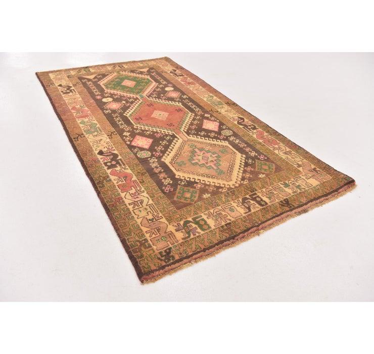 3' 10 x 7' Shiraz-Gabbeh Persian Rug