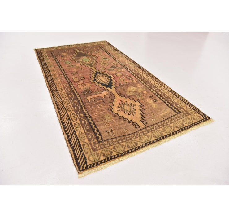 Image of 3' 10 x 7' 2 Shiraz-Gabbeh Persian Rug