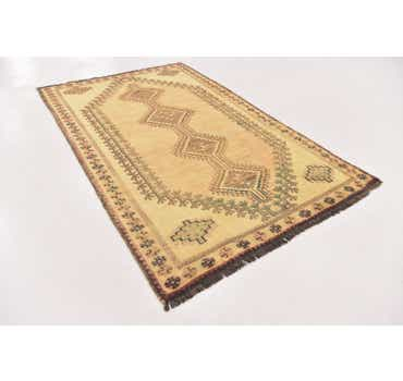 Image of 4' 4 x 7' 2 Shiraz-Gabbeh Persian Rug