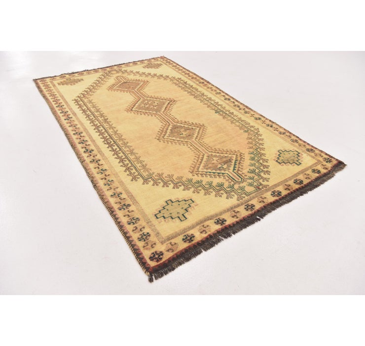 Image of 4' 4 x 7' 2 Shiraz-Gabbeh Persian Rug